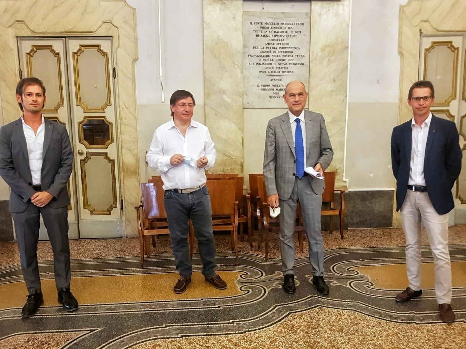 Conferenza stampa presso il comune di Jesi per presentare il programma dell'anno rotariano 2020/2021.