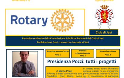 RotaryNews N. 72, il notiziario di luglio-agosto 2020